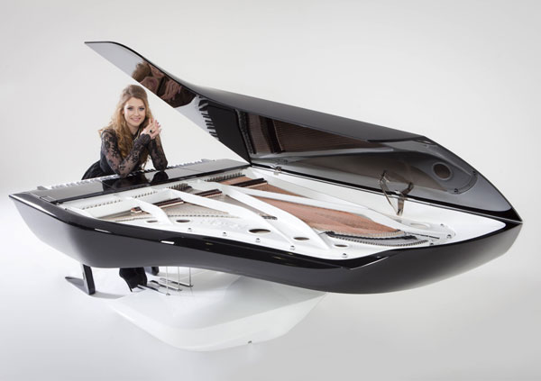 X Factor star, Ella Henderson debuts the Peugeot Design Lab Pleyel piano