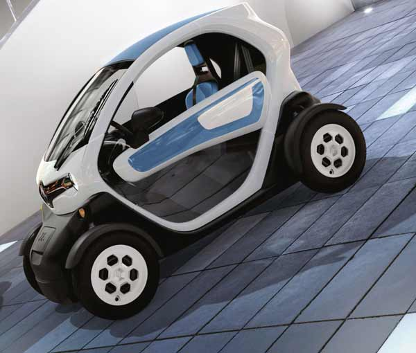 This two-seater is capable of up to 50 mph and full charge takes three and a half hours