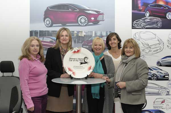 Ford accepts Women's World Car of the Year trophy