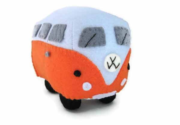 Personalised Cuddly VW Campervan Toys