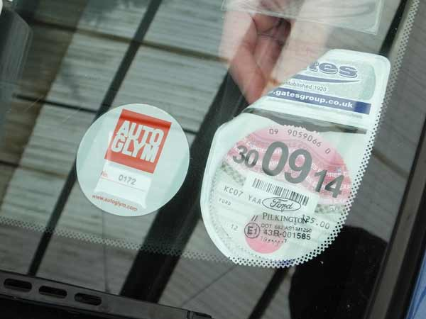 Top tips on removing gluey mess left by old tax disc holder