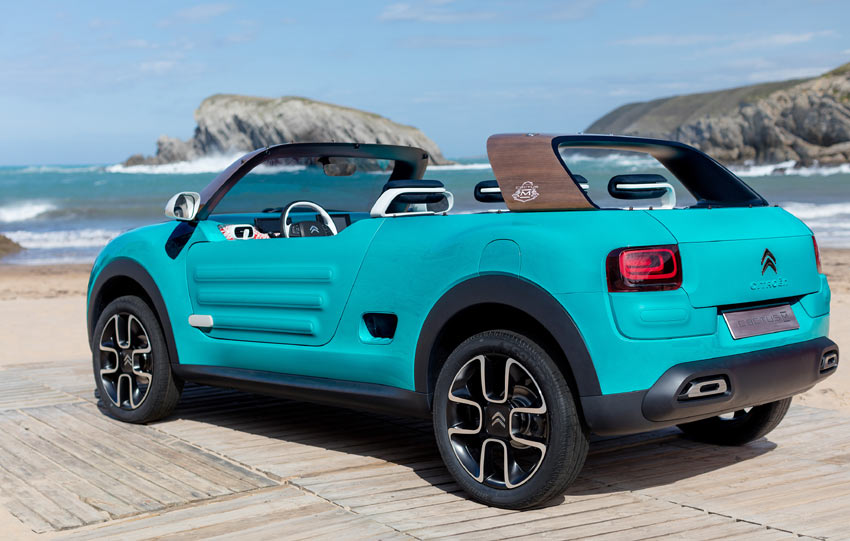 The Cactus M concept is a modern take on the values that led to the development of the Méhari