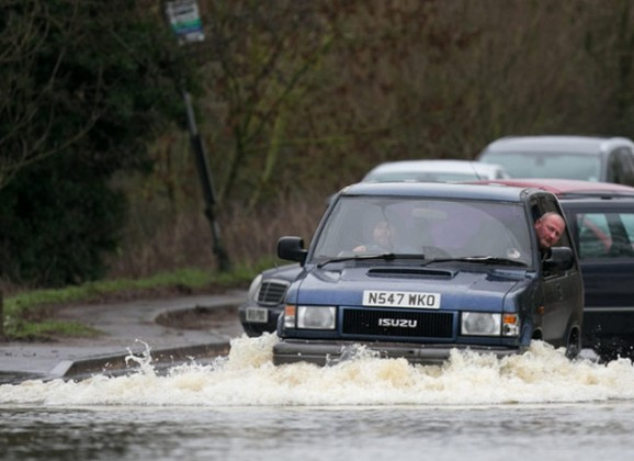 Driving in Heavy Rain and Floods