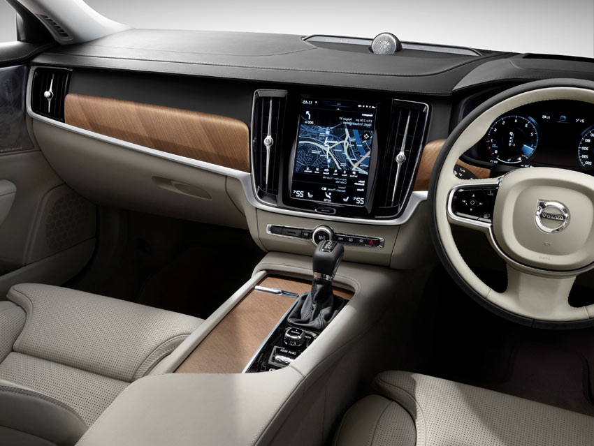 Pilot Assist, Volvo's innovative semi-autonomous drive feature, is standard on every S90