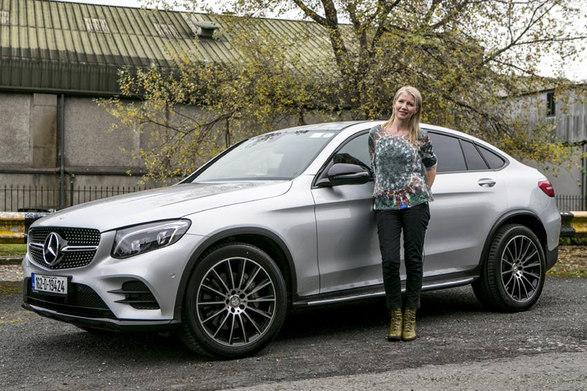 Geraldine Herbert with the GLC Coupe. Pic by Kyran O'Brien