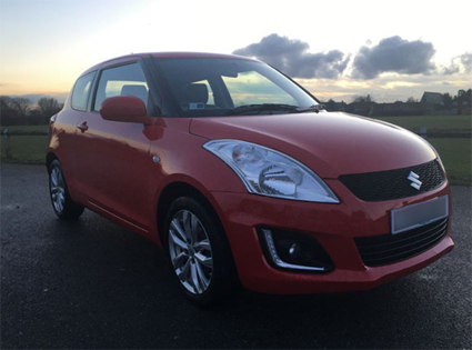 Ellie's Swift wouldn't look out of place in a Suzuki brochure