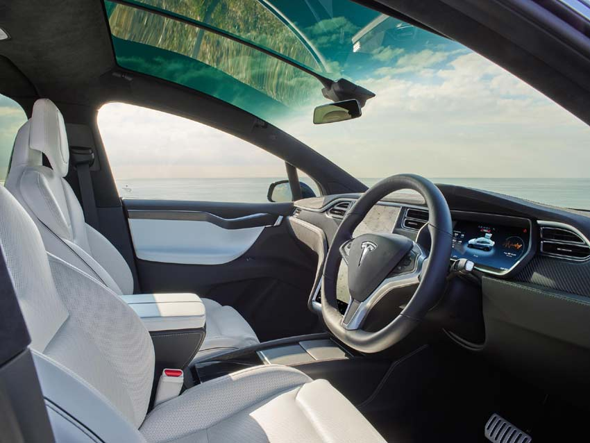 Model X is incredibly fast, accelerating from zero to 60 miles in as quickly as 3.1 seconds.