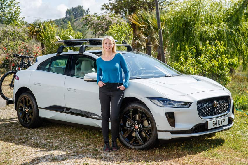 Geraldine Herbert with the all new Jaguar I-Pace
